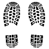 Vector clipart: black footstep background