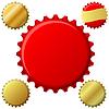 Czerwony i złoty set butelka | Stock Vector Graphics