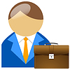 Vector clipart: Office buddy with case