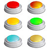 Vector clipart: Set of buttons