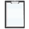 Vector clipart: Clipboard icon with paper