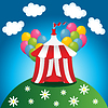 Vector clipart: red circus tent