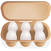 Яйца в контейнере | Векторный клипарт