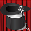 Vector clipart: magic hat and wand