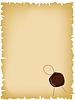 Старая бумага с сургучной печатью | Векторный клипарт