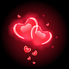 Red hearts for valentine`s day