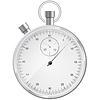 Vector clipart: silver stopwatch