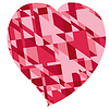 red heart for valentine`s day