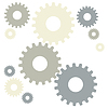 Grey gears | Stock Vector Graphics