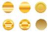 gold sticker set