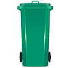 Green garbage bin with wheels | Stock Vector Graphics