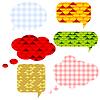Vector clipart: Speech bubbls set