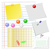 Vector clipart: Paper set