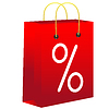 Vector clipart: Red shopping bag