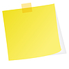 Vector clipart: Yellow post note with white background