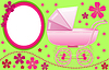 Vector clipart: Baby pram photo frame