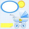 Vector clipart: Birthday photo frame for boy