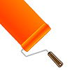 Farbroller mit orange Farbe | Stock Vektrografik
