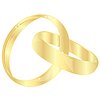 Vector clipart: Gold wedding rings