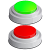 Vector clipart: Help icon with red anf green buttons