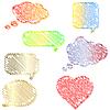 Vector clipart: Doodle speech bubbles set