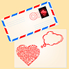 Vector clipart: Love letter for valentine`s day