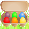 Vector clipart: Easter eggs in cardboard box