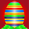 Vector clipart: Easter background with egg and leaves