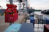 集装箱船(UN)装 | 免版税照片