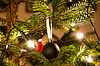 Christmas Ball Hanging of Christmas Tree | Stock Foto