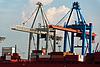 Photo 300 DPI: Container Terminal in Hamburg Harbor, Germany
