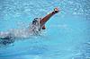 Mężczyzna indeksowania pływanie | Stock Foto