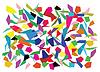 Векторный клипарт: Цвет осколков