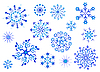 Vector clipart: Snowflakes. Winter collection