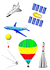 Vector clipart: Astronautics and Space set