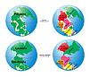 ID 3307193 | Mapa świata z Pangea, Laurasia, Gondwana i Tetis morze | Klipart wektorowy | KLIPARTO