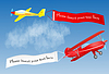 ID 3343711 | Flugzeug mit Banner und Platz für Ihren Text | Stock Vektorgrafik | CLIPARTO
