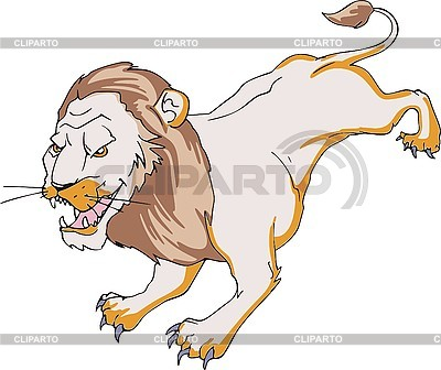 Löwe läuft | Stock Vektorgrafik |ID 3001073