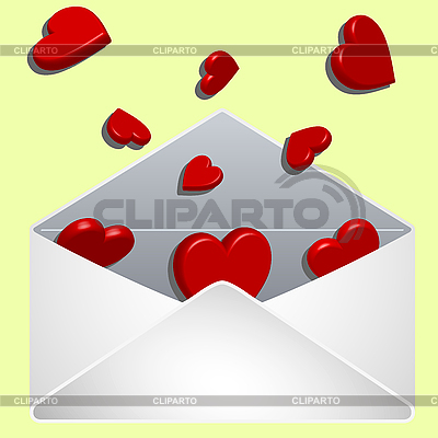 Envelope with love | Stock Vector Graphics |ID 3001314