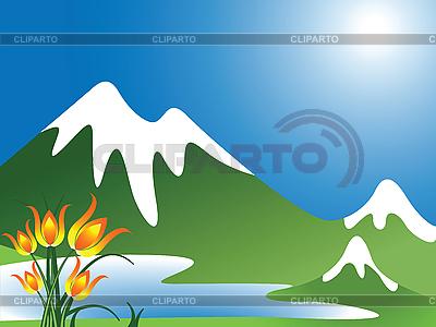 Mountain landscape | Stock Vector Graphics |ID 3001363