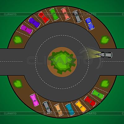 Runde Parkplätze für Autos | Stock Vektorgrafik |ID 3001393