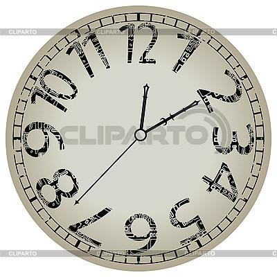 Runde Uhr | Stock Vektorgrafik |ID 3001543