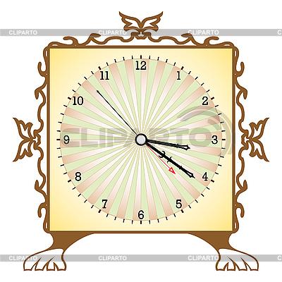 Quadratische Uhr | Stock Vektorgrafik |ID 3001545