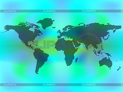 Mapa świata na kolorowym tle | Klipart wektorowy |ID 3001581