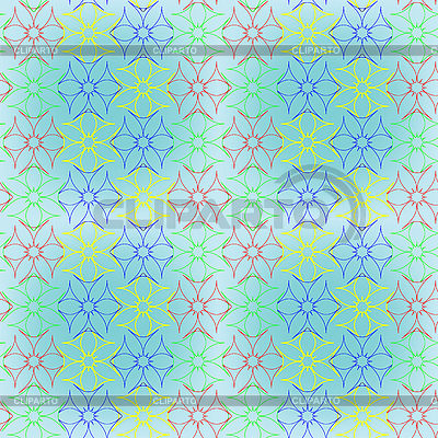 Abstract seamless flowers pattern extended   Stock Vector Graphics  ID 3001615