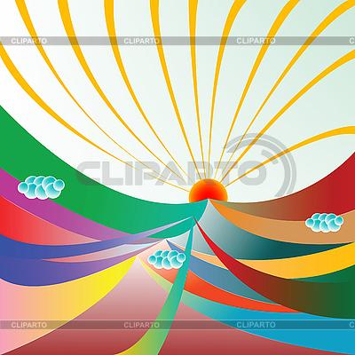 Sonnenschein über die Berge | Stock Vektorgrafik |ID 3001627