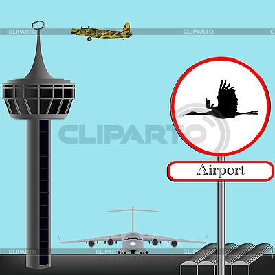 Koncepcja lotniska wojskowego | Klipart wektorowy |ID 3001647