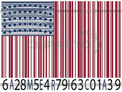 America flag kodów kreskowych | Klipart wektorowy |ID 3001719