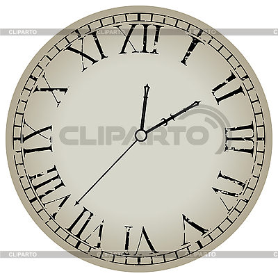 Ancient clock against white | Stock Vector Graphics |ID 3001727