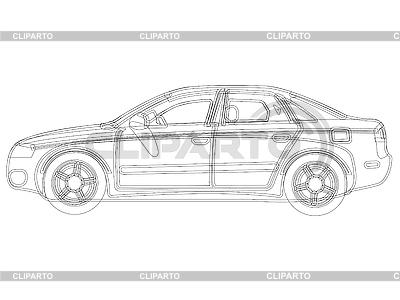 Vector szkic auto | Klipart wektorowy |ID 3001789